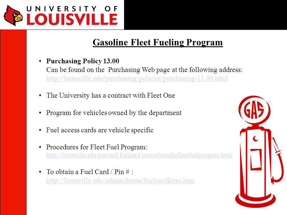 Gasoline Fleet Fueling Program