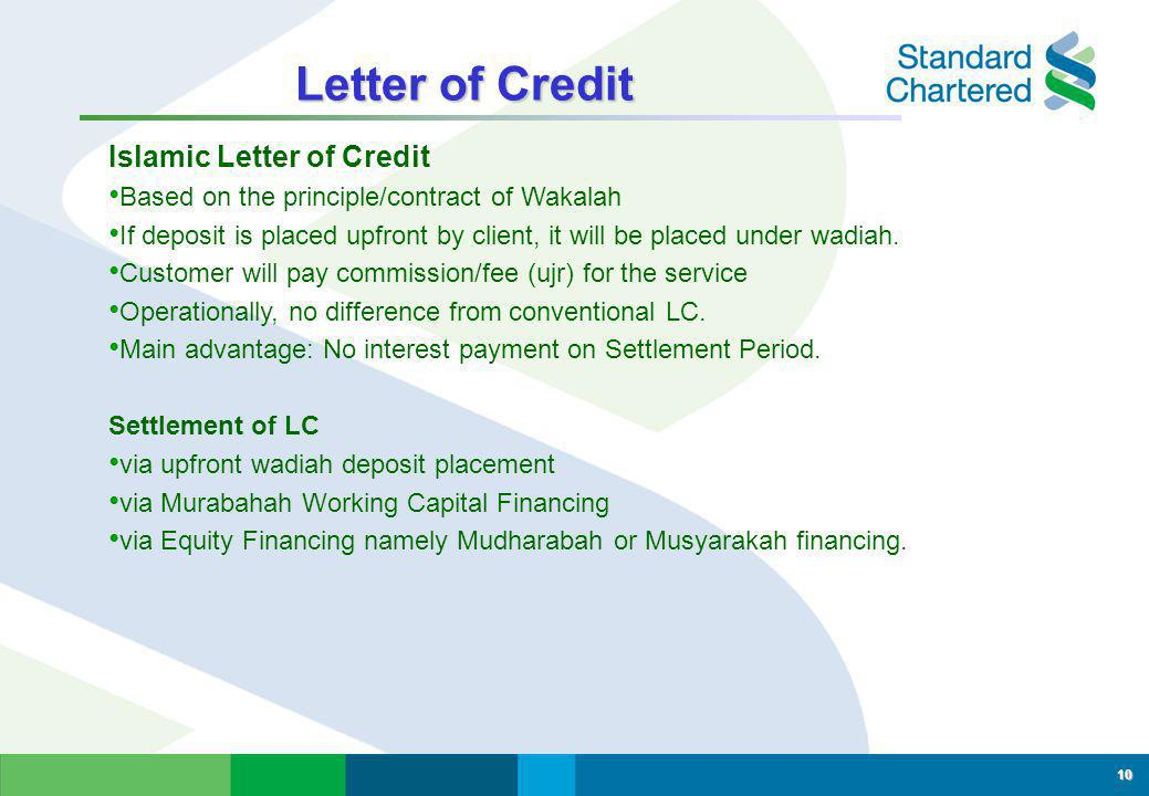 Letter of Credit Islamic Letter of Credit