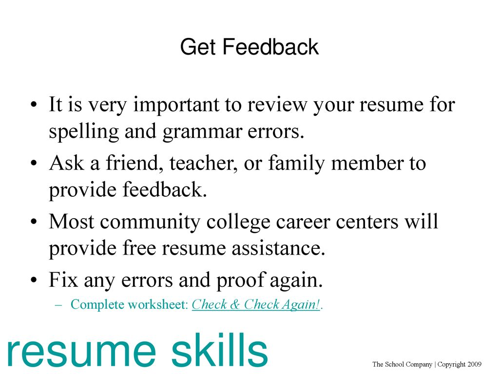 Clue In: Resume Skills For Non-Traditional Careers - ppt download