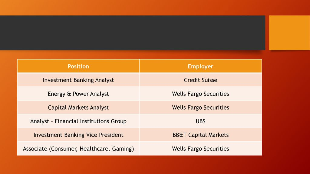 Bb&t healthcare investment banking investment bankers social life