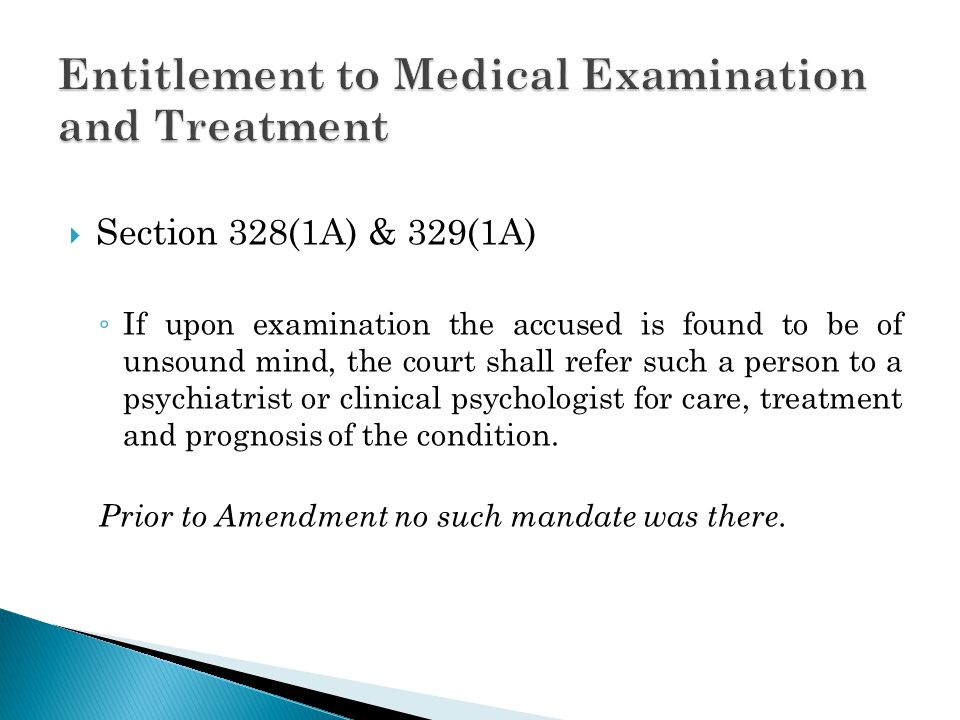 Entitlement to Medical Examination and Treatment