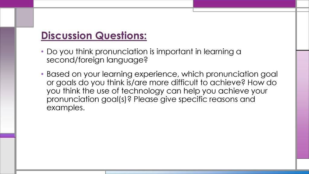 Using Technology to Teach Speaking and Pronunciation Skills - ppt