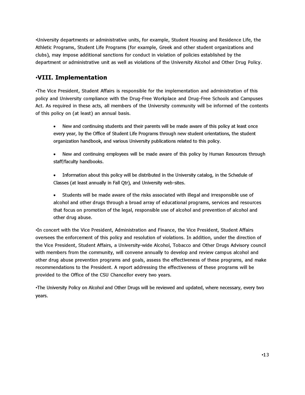 California State University East Bay Policy On Alcohol And Other