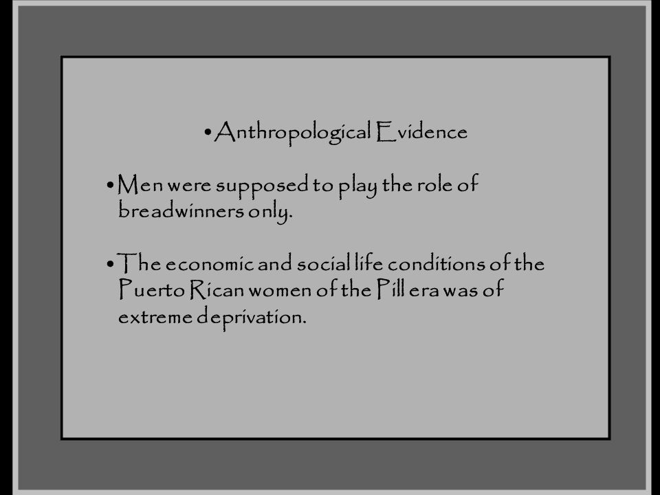 Anthropological Evidence