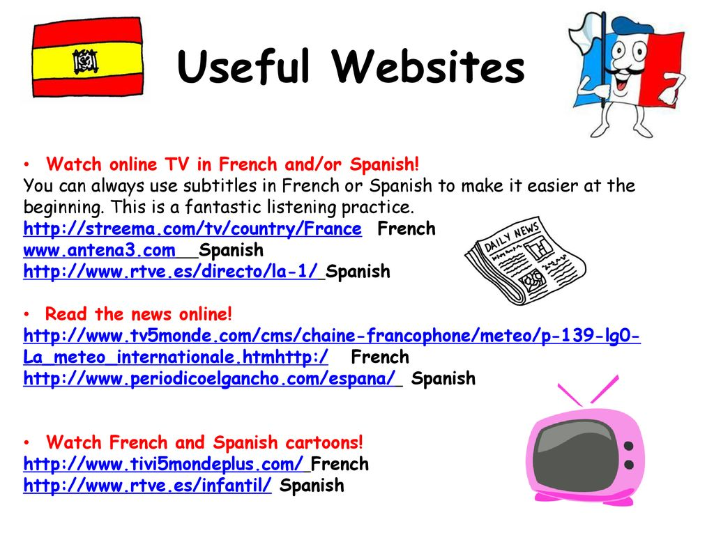 Useful Websites There are many useful websites offering practice in