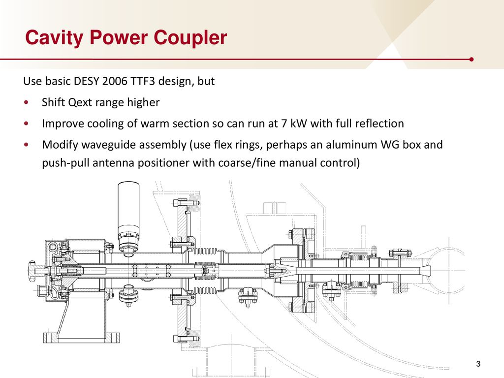 Modified Ttf3 Coupler Design And Related Rd For Lcls Ii Ppt Download Schematic Cavity Power Use Basic Desy 2006 But