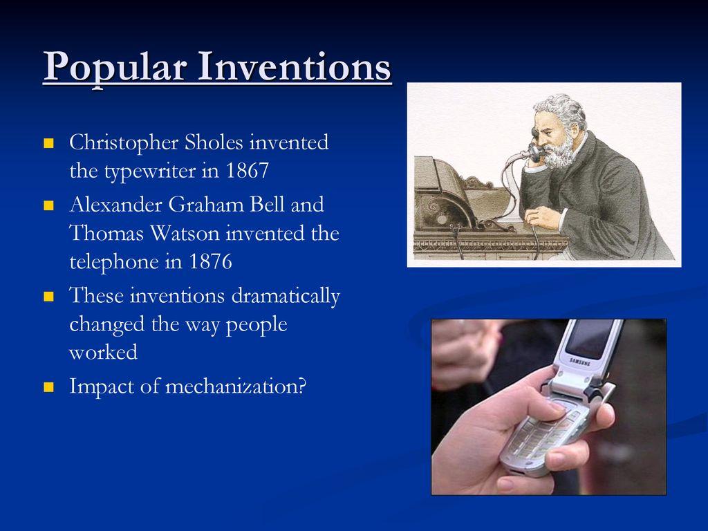 christopher sholes invention impact