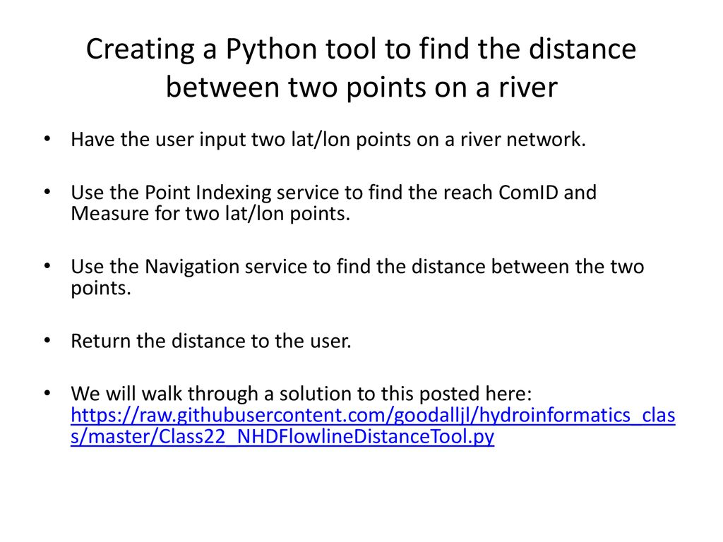 Finding Distance Between Points Python