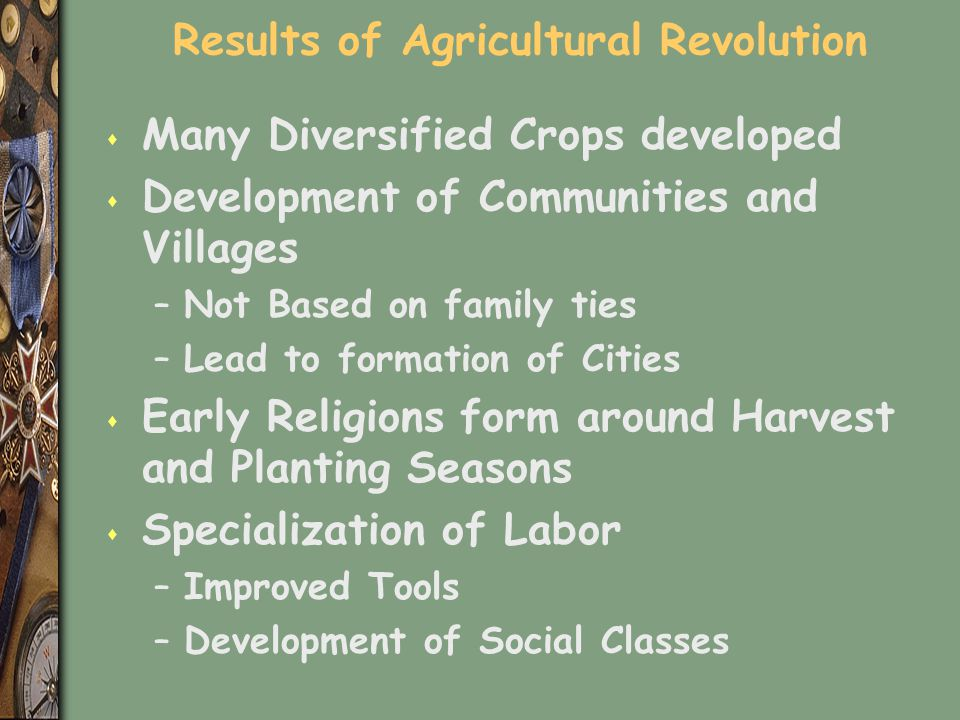 Results of Agricultural Revolution