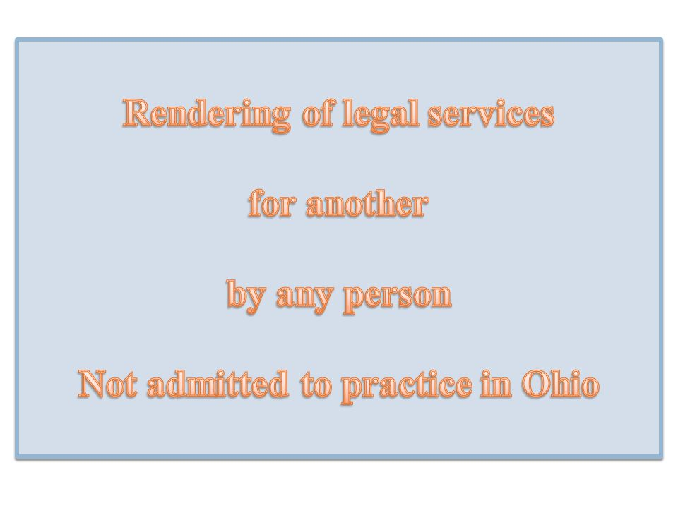 Rendering of legal services
