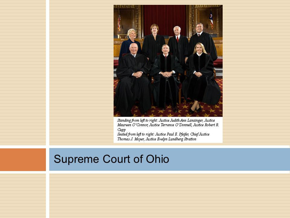Supreme Court of Ohio Here they are