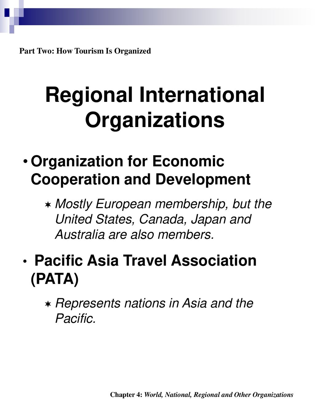 Part One: Tourism Overview - ppt download