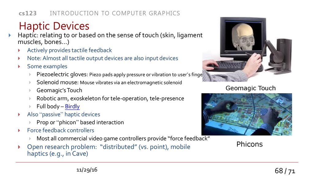 Post-WIMP UI's Display and Interaction Devices - ppt download