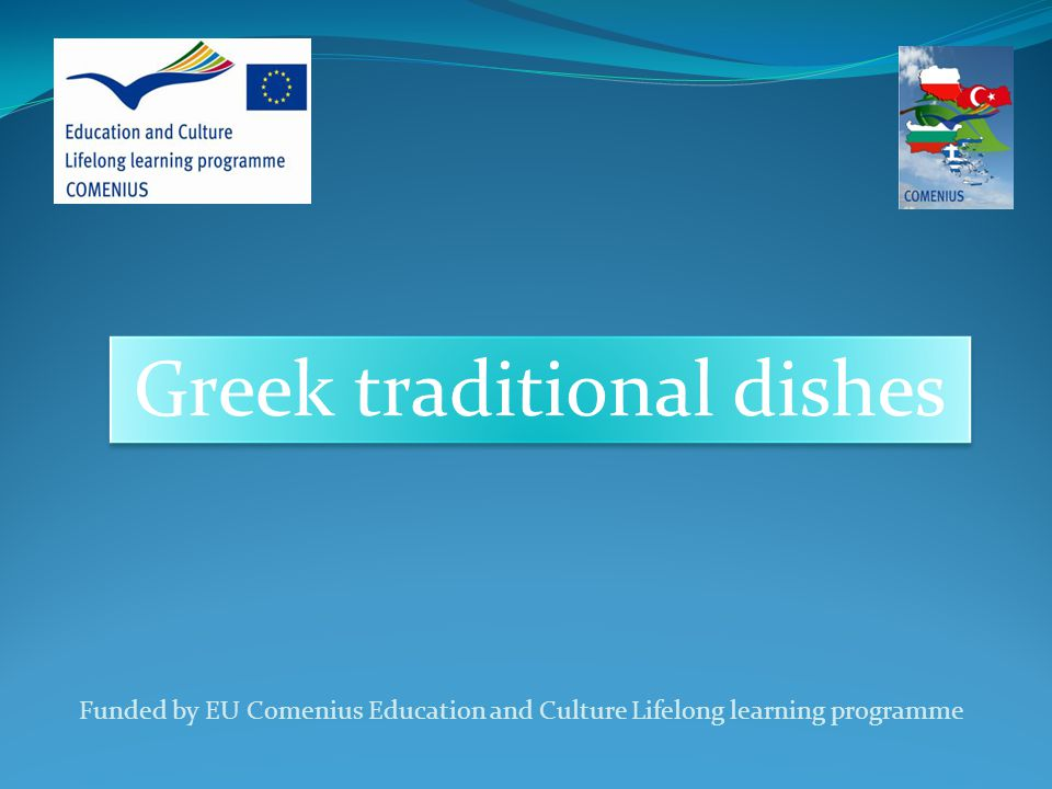 Greek traditional dishes