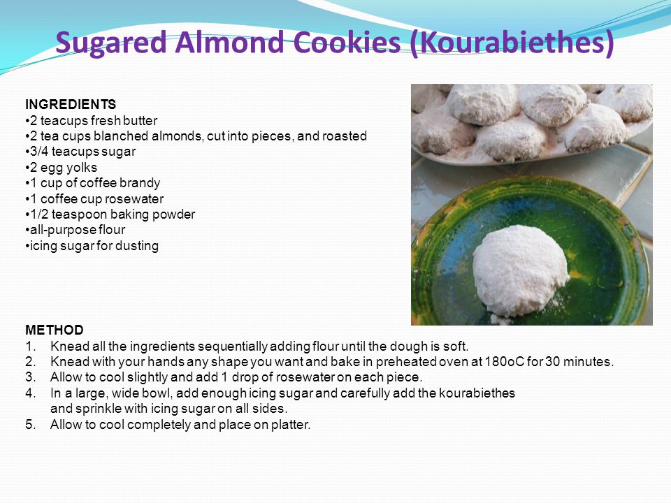 Sugared Almond Cookies (Kourabiethes)