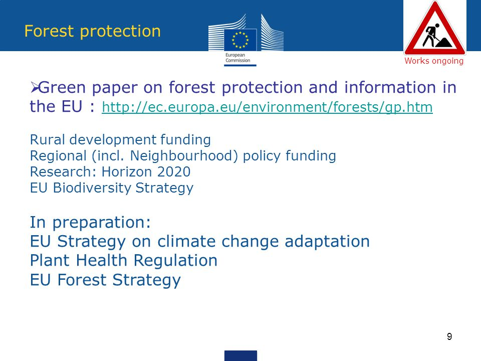 EU Strategy on climate change adaptation Plant Health Regulation