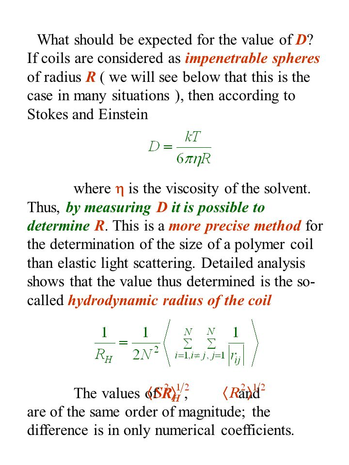 What should be expected for the value of D