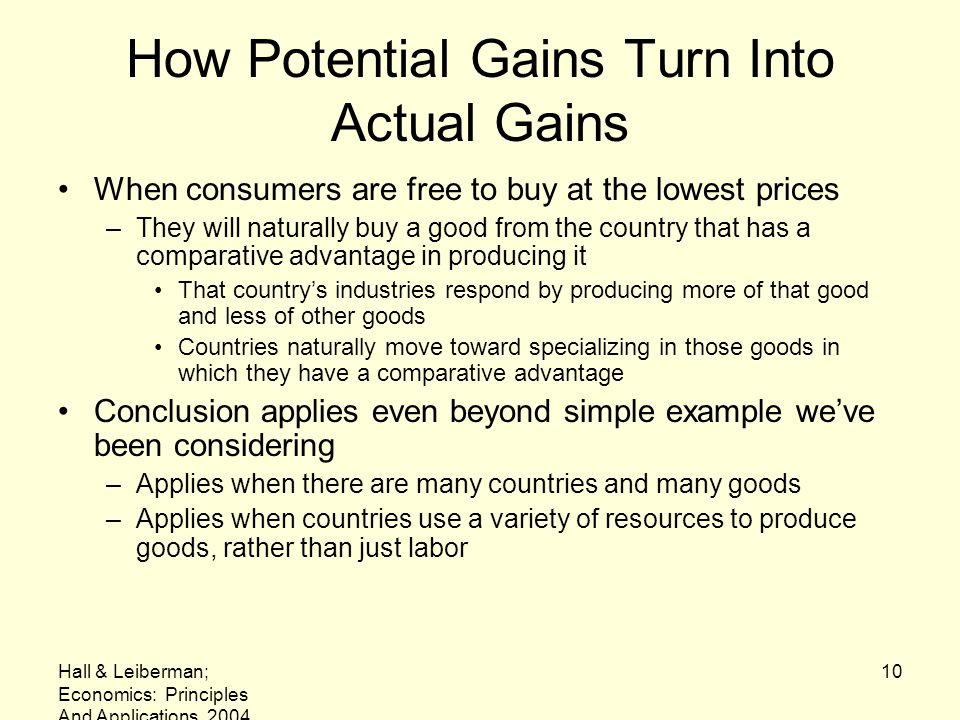 How Potential Gains Turn Into Actual Gains