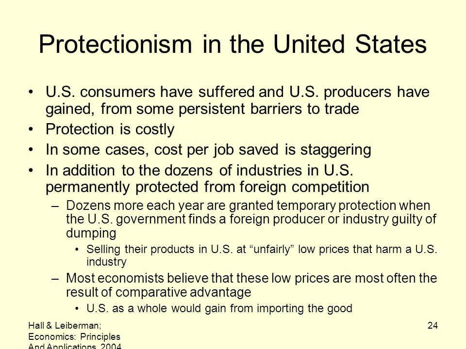 Protectionism in the United States