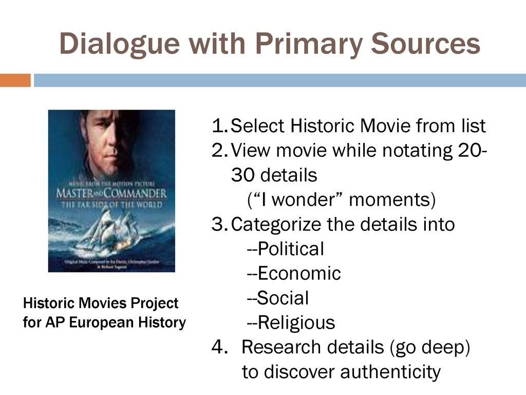 Dialogue with Primary Sources