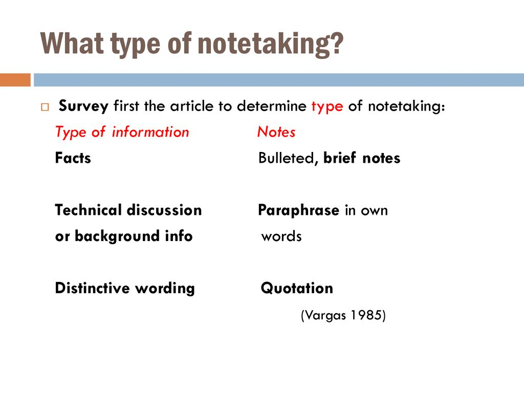 What type of notetaking