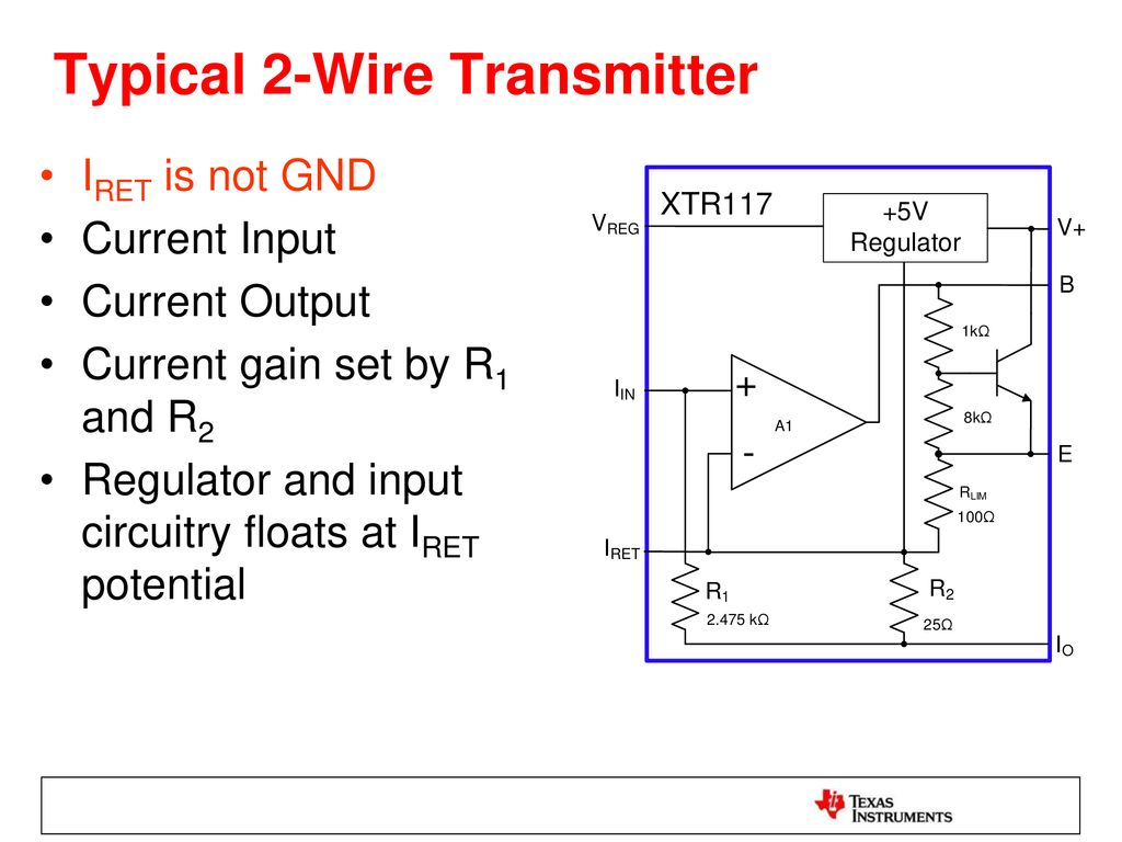 2 Wire Vs 3 Transmitters Ppt Download Power Cord Diagram As Well Transmitter Wiring Typical