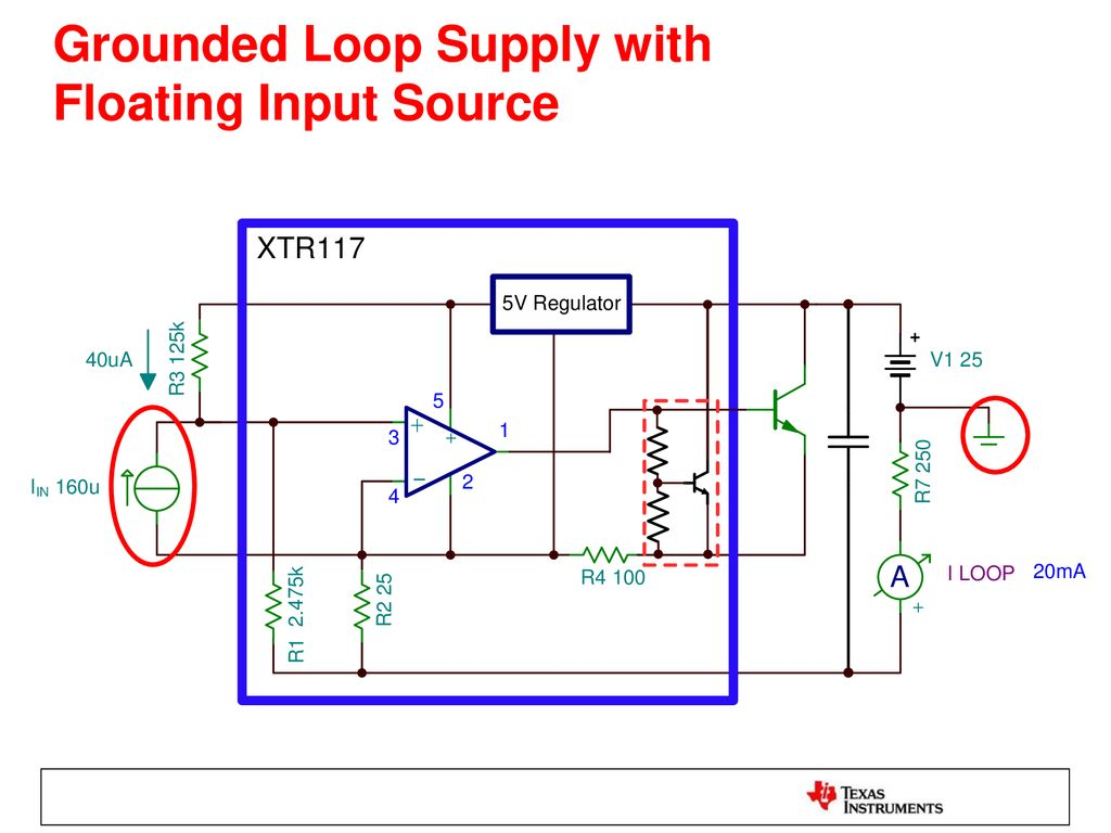 2 Wire Vs 3 Transmitters Ppt Download 20 Ma Current Loop Measuring Circuits Basics I Industrial Of 20ma Grounded Supply With Floating Input Source