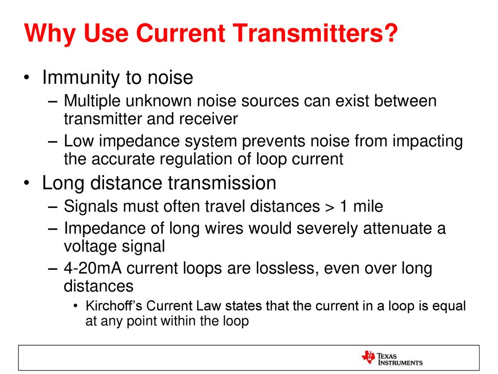 2 Wire Vs 3 Transmitters Ppt Download Temperature Sensor Current Loop Transmitter Why Use