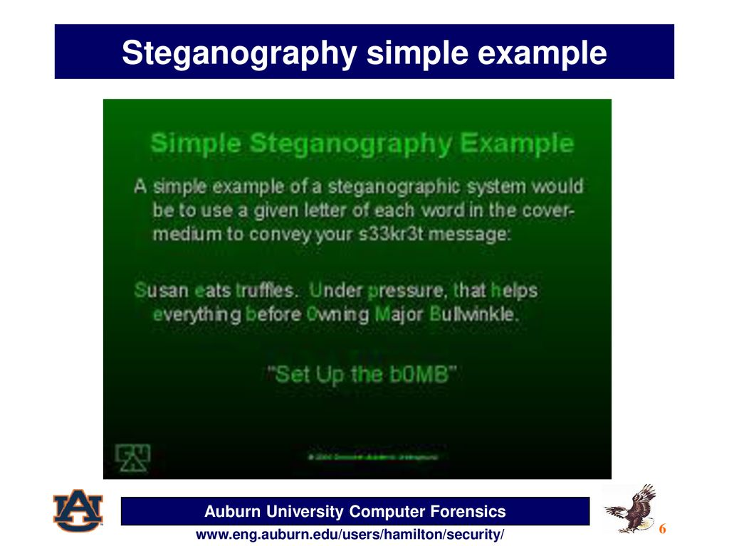 Simple steganography example