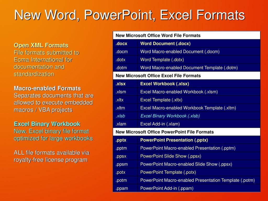 Microsoft Office Xml Formats Ppt Download