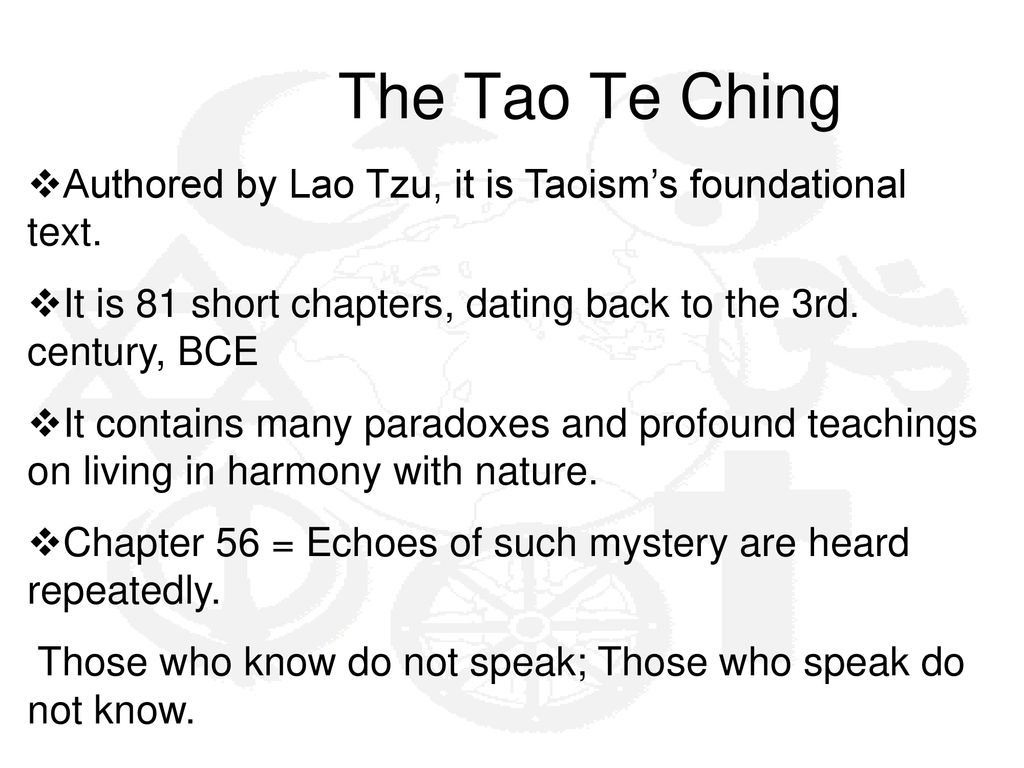 Tao of dating chapters