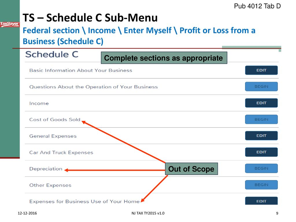 Business Income Schedule C - ppt download