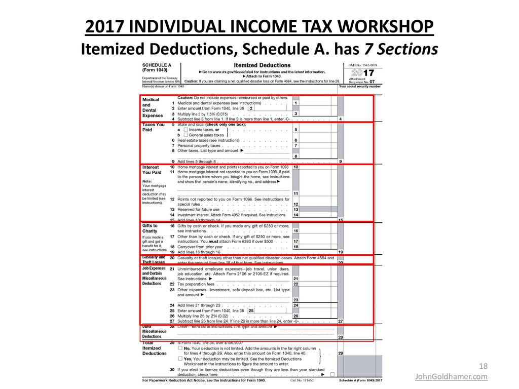 2017 INDIVIDUAL INCOME TAX WORKSHOP - ppt download