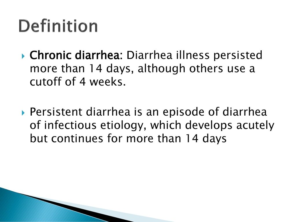 chronic diarrhea and malabsorption syndromes - ppt download