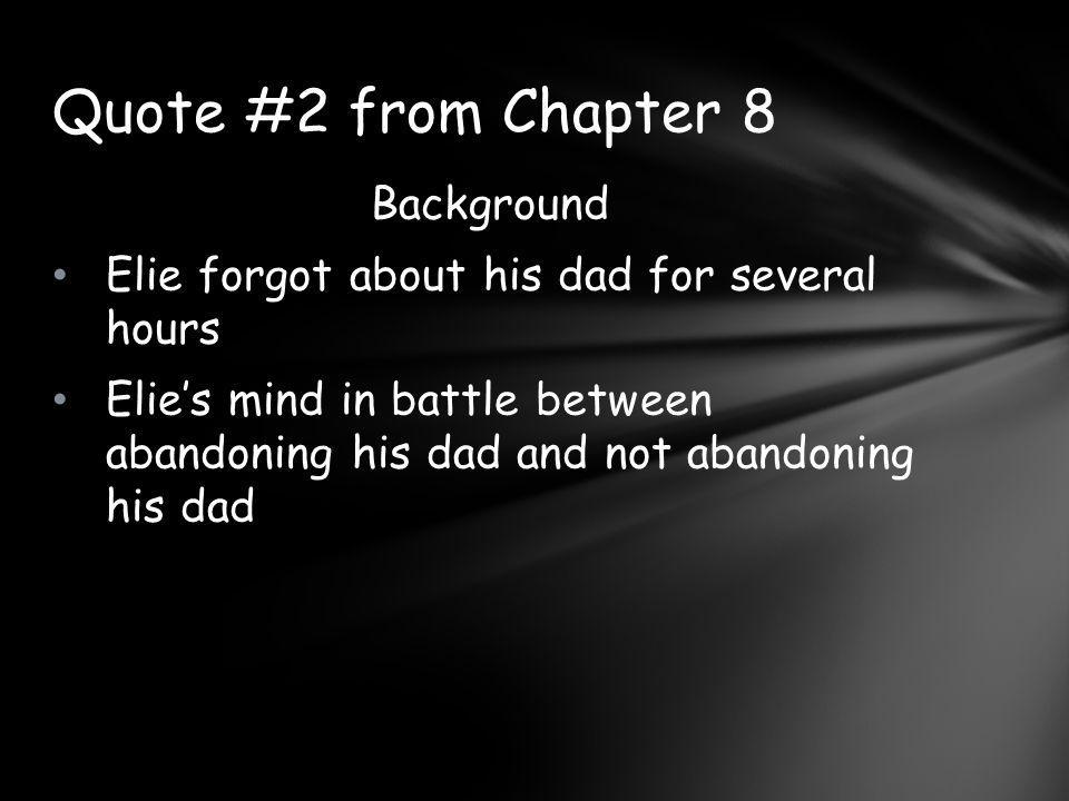 Quote #2 from Chapter 8 Background
