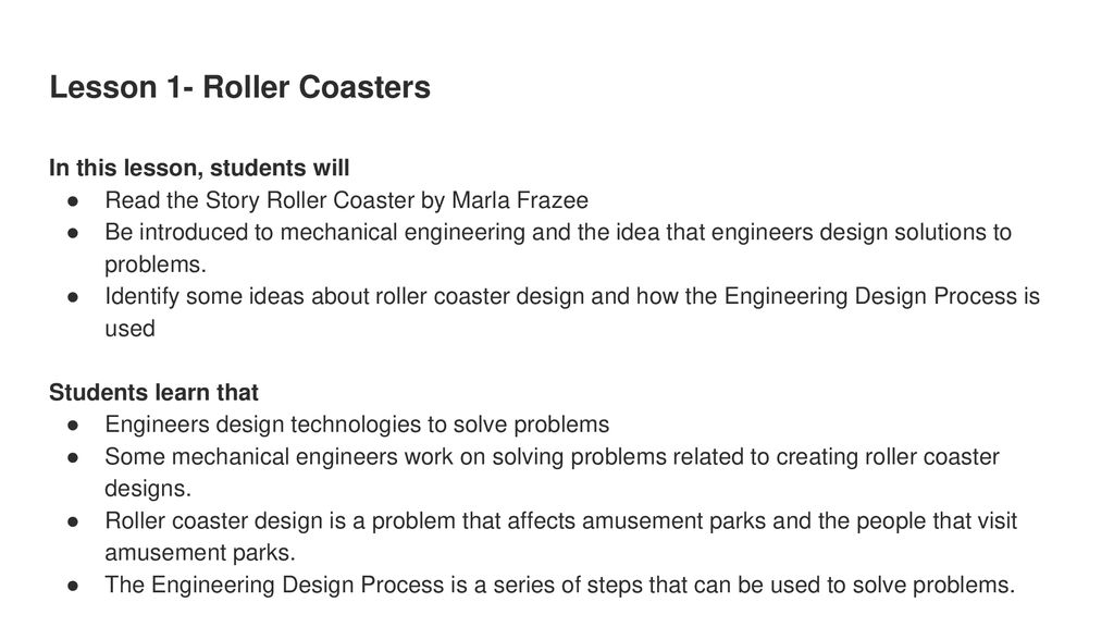 Roller Coaster Design Challenge Ppt Download