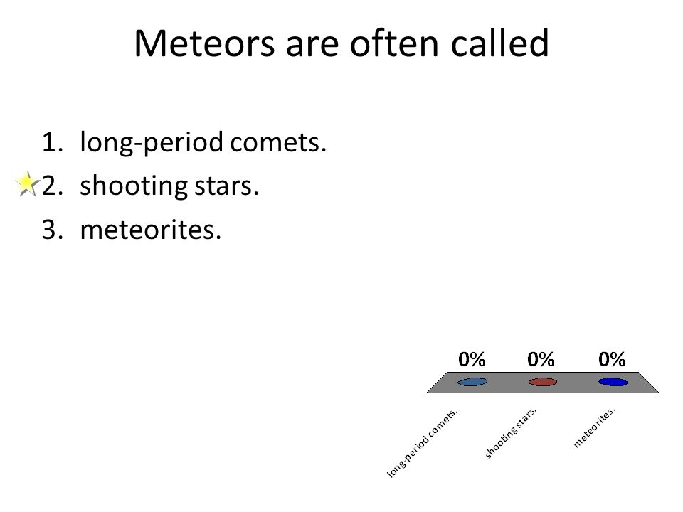 Meteors are often called