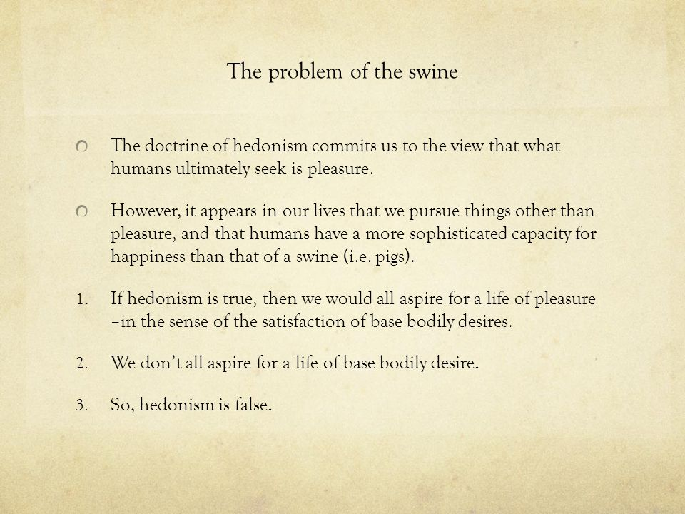 The problem of the swine