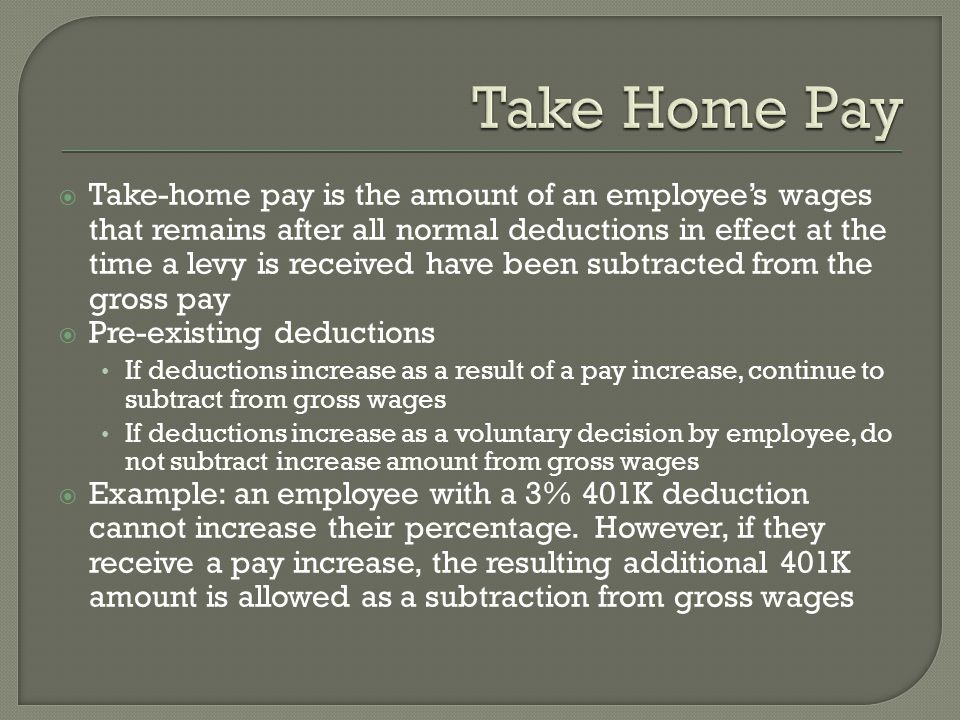 Take Home Pay