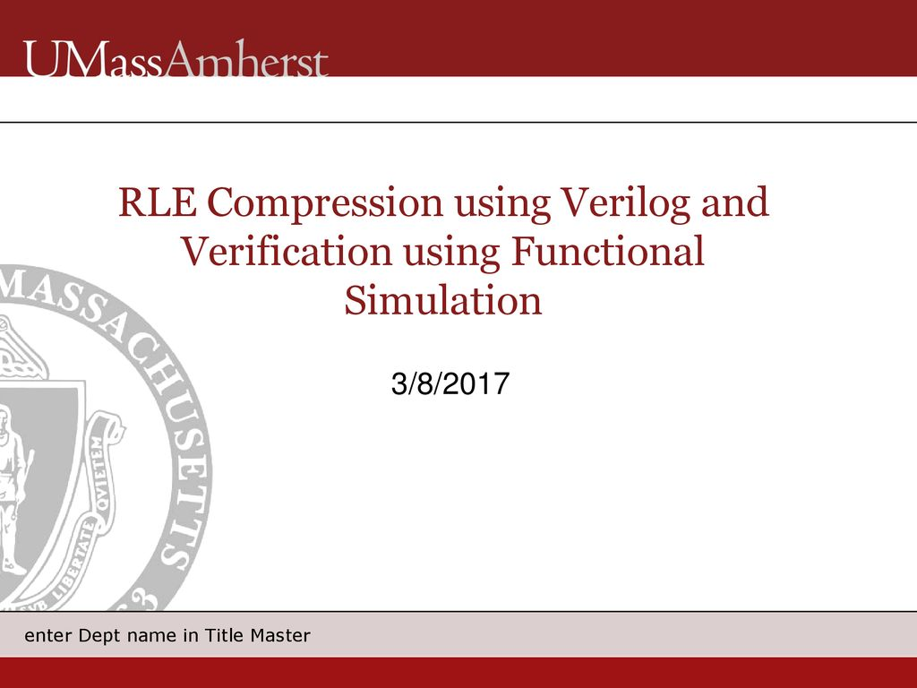 RLE Compression using Verilog and Verification using