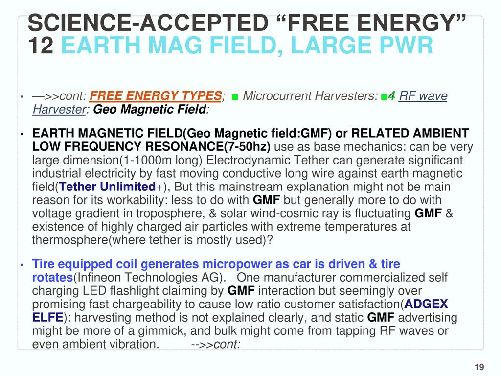 Less known, Clean, Low cost, Abundant Energy Technologies & related