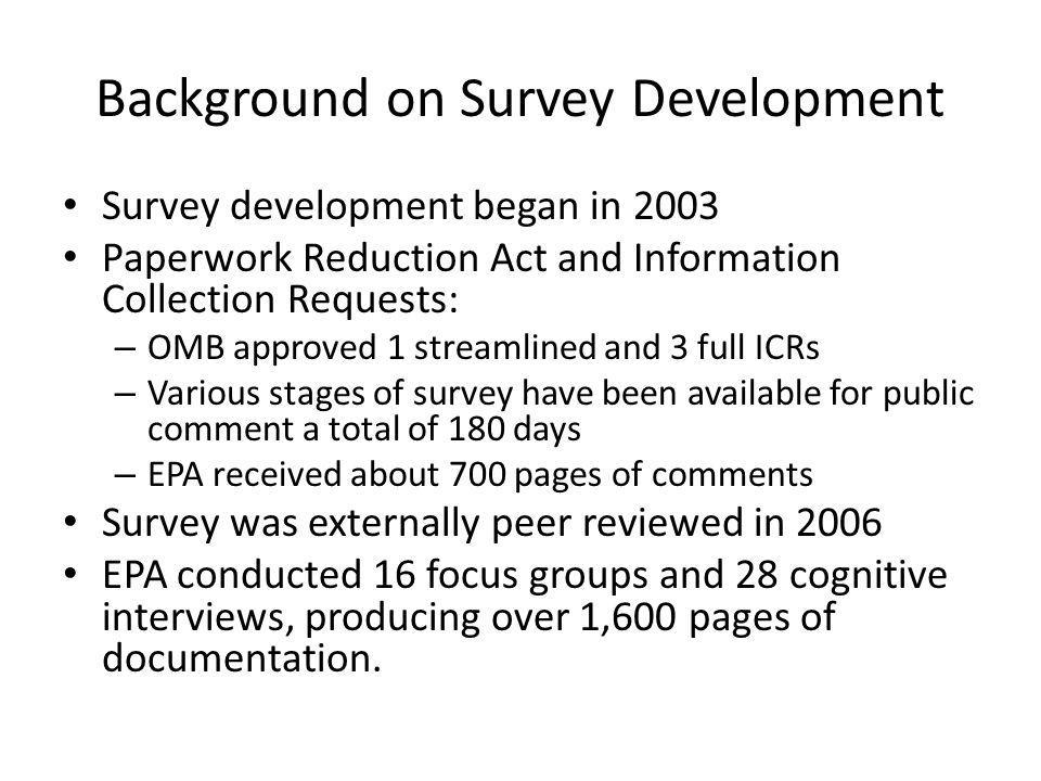 Background on Survey Development