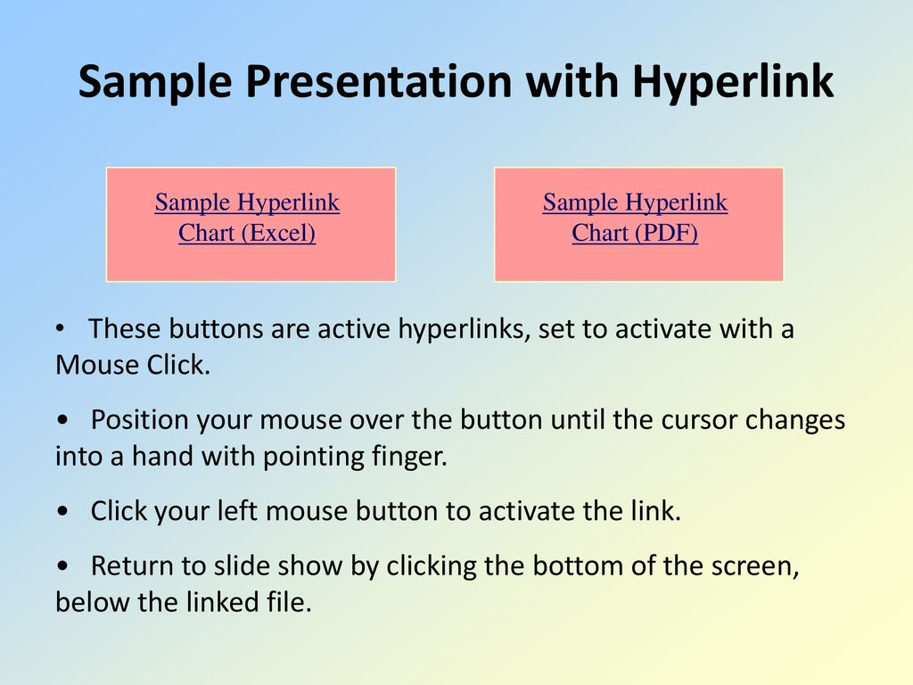 Using powerpoint to present research results ppt download sample presentation with hyperlink ccuart Images