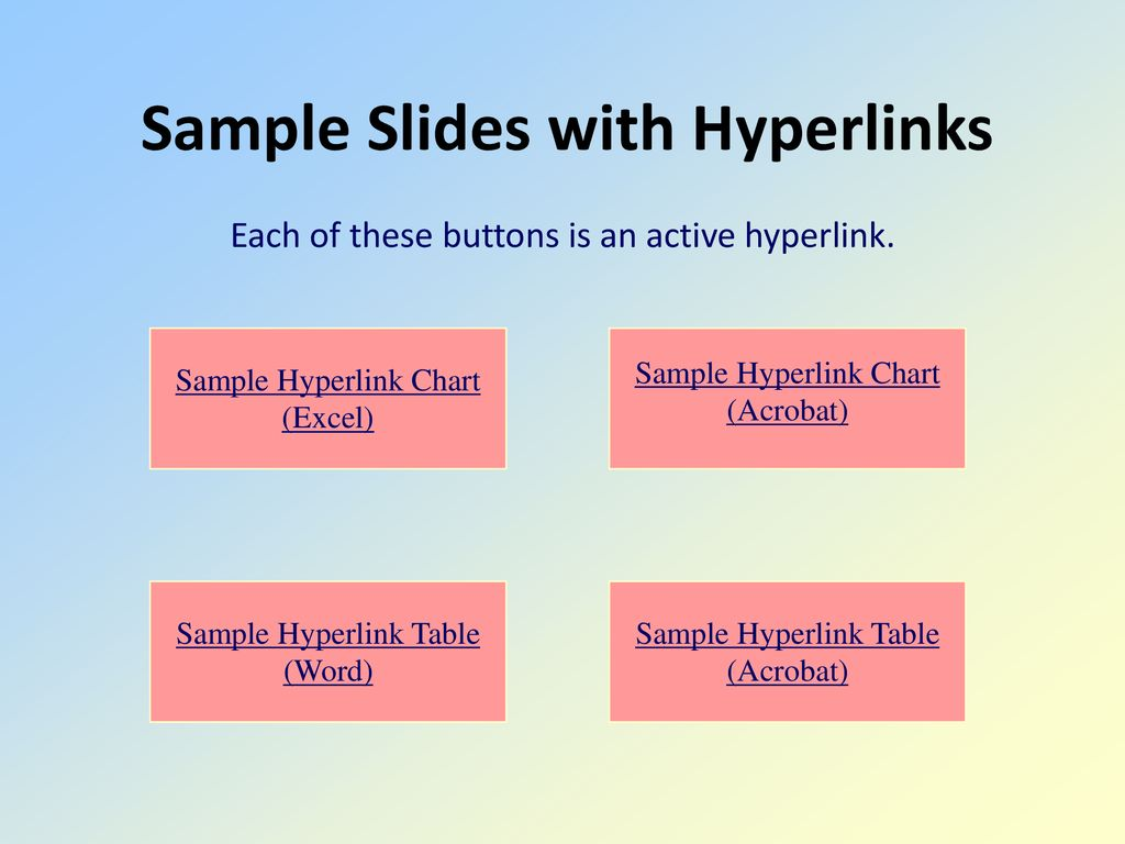 Using powerpoint to present research results ppt download sample slides with hyperlinks ccuart Images