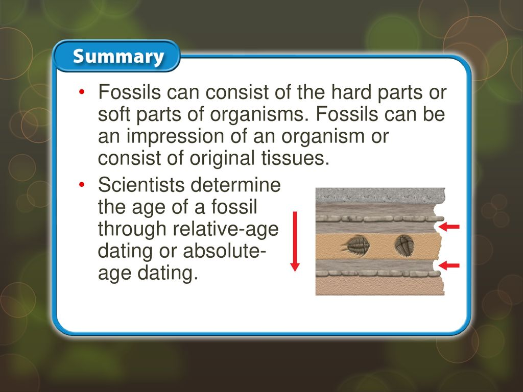 Parts of relative dating