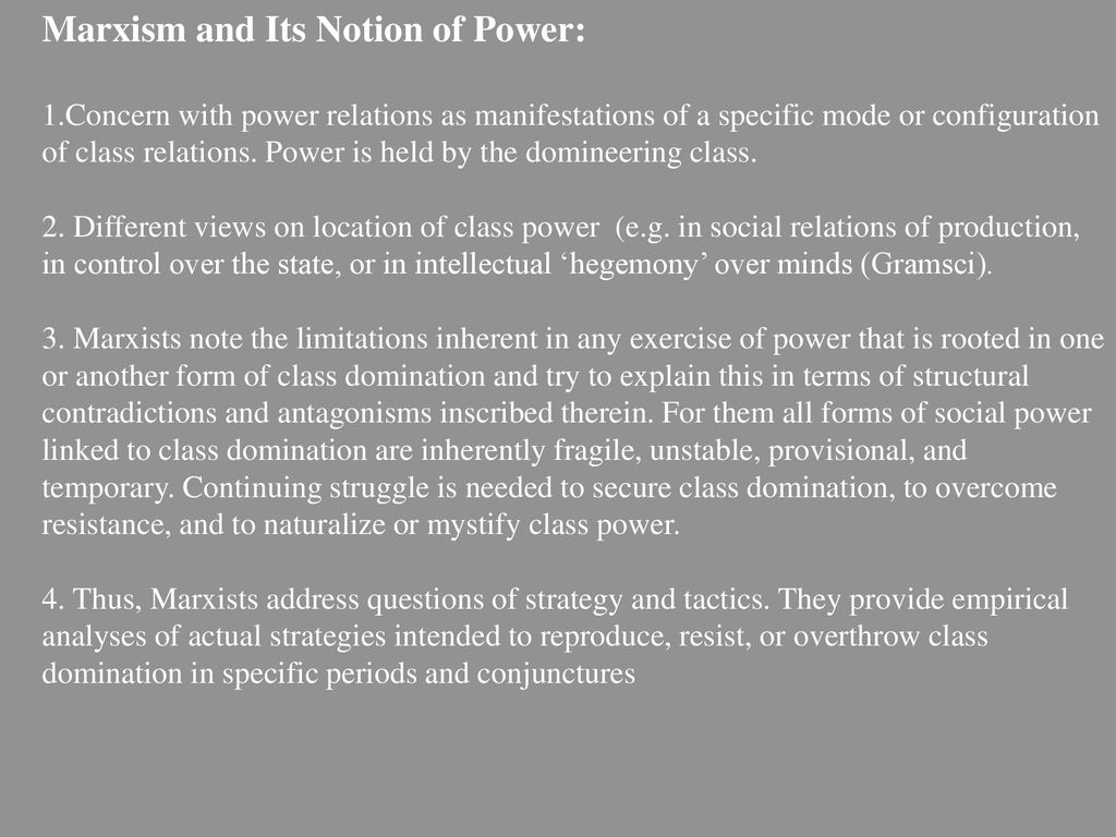Domination and social power