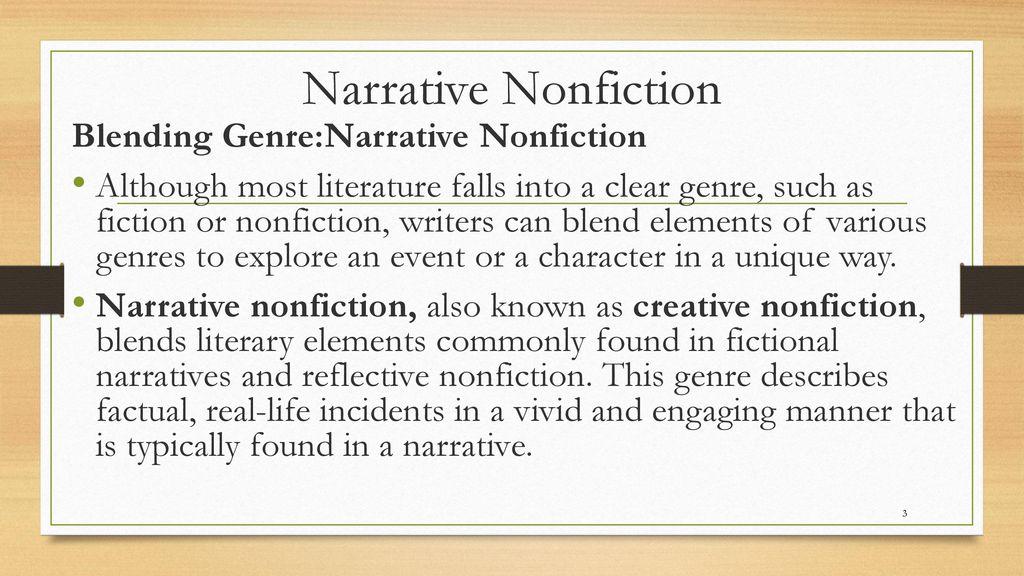 Narrative nonfiction essay structure autobiography essay