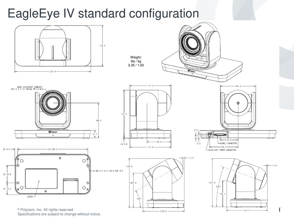 Realpresence Group Series Backplanes And Line Drawings Ppt Download Eagle Eye Wiring Diagram Eagleeye Iv Standard Configuration