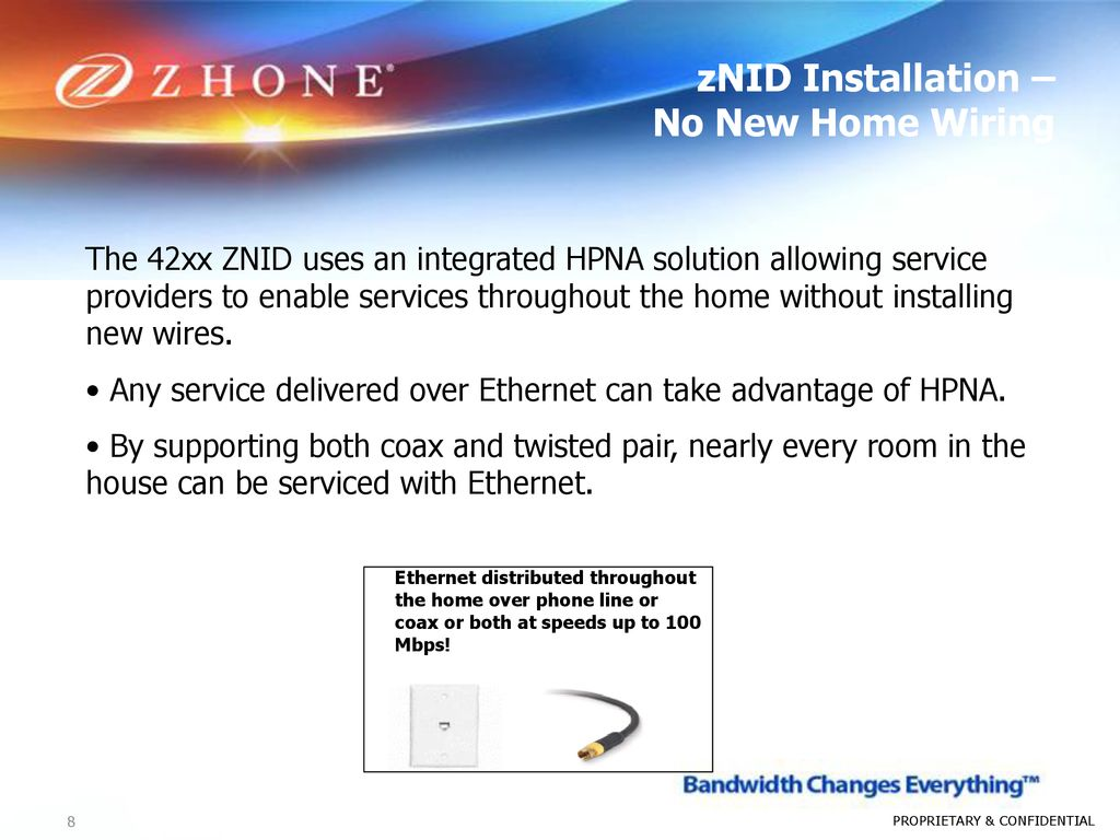 Outdoor Gpon Ont September Ppt Download Ethernet Through Household Wiring Znid Installation No New Home