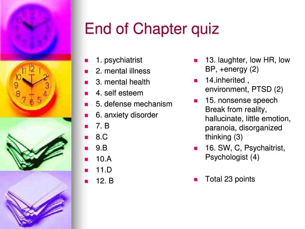 Ch 4 Emotional Mental Health Ppt Download
